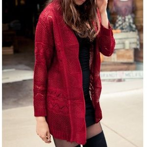 Brandy Melville Red Cardigan